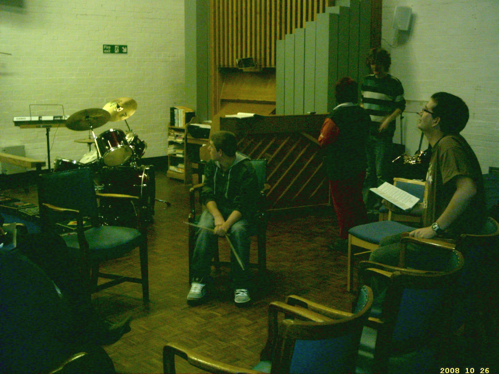 Members preparing for rehearsal